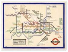 "Map of LONDON Undergound Railway (Subway) circa 1933 - print measures 18"" x 24"""