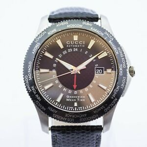 Excellent Gucci Automatic GMT Stainless Steel Watch Ref: YA126211 - SH32258