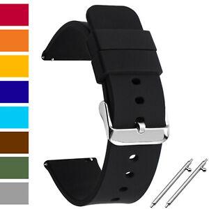 16 | 18 | 20 | 22 | 24 mm Silikon Uhrenarmband Ersatz Armbanduhr Gummi Band TF60