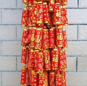 Velvet Chinese Firecrackers String Knot Pendant New Year Bless Luck Decoration