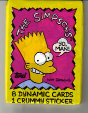Simpsons, trading  cards  pack