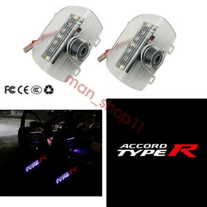 Car Door LED Red TYPE-R Logo Projector Puddle Lights For Honda Accord 2013-2020