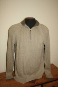 Columbia Mens 1/4 Zip Ribbed Knit Sweater Mens Large