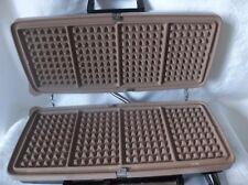 Vintage Sunbeam Waffle Maker  Grill Chrome 1100 Watts Model TCGL-1 Works