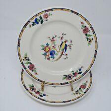 "2 Syracuse China Dewitt Clinton 9 3/4"" Dinner Plates Birds of Paradise"