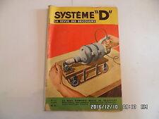 SYSTEME D N°141 09/1957 FAUTEUIL DE JARDIN PLIANT COFFRE EN BOIS BROUETTE  D85