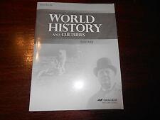 Abeka WORLD HISTORY AND CULTURES Quiz key homeschooling teacher