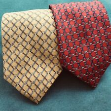 Men's Neck Tie Lot Brooks Brothers Makers Red Yellow Hand Made In USA 🇺🇸