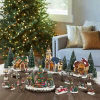 30-piece Holiday Village Set Christmas Holiday Decorations @@