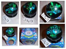 Jelly Globe, sfera vintage di gomma trasparente con pesci in acqua colorata