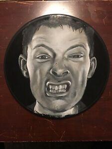 Radiohead Thom Yorke Hand Painted Acrylic Custom Wall Art Vinyl Record Gift