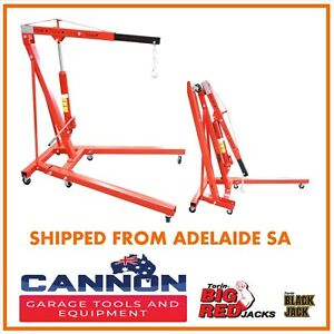 Hydraulic  1000kg FOLDING SHOP CRANE Mobile Engine Hoist Lifter Workshop Lift