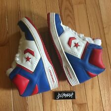 Converse Weapon Basketball Shoes size 9.5 red white blue