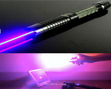 AU Powerful THOR Blue Laser Pointer Adjustable Lazer Pen Burn Paper Military 1mw
