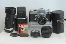 Miranda Sensorex II with 50mm F1.4 Lens, 28mm F2.8 Lens and 135mm F2.8 Lens Kit