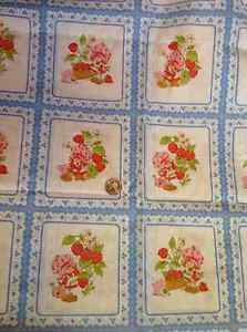 """VINTAGE! STRAWBERRY SHORTCAKE BLUE SQUARES - RELEASED 1980 - APPROX. 17""""X22"""""""