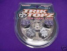 Trik Topz Tyre Valve caps CHROME $$ Dollar design BLING