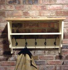 Shabby chic Shelf/coat Hanger/coat Unit/cabinet In Cream