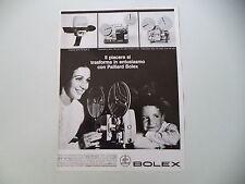 advertising Pubblicità 1967 BOLEX CINPRESA 150 SUPER 8/CINE PROIETTORE 18-5