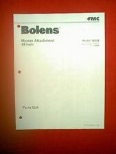 """BOLENS TRACTOR 48"""" MOWER DECK ATTACHMENT MODEL # 18338 PARTS MANUAL"""