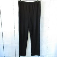 New Attitudes By Renee Pants L Are Black Bamboo Moisture Wicking Pull On QVC