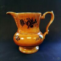 c1956 Lord Nelson Ware Jug Brown / Black Roses 18cm Tall | FREE Delivery UK*