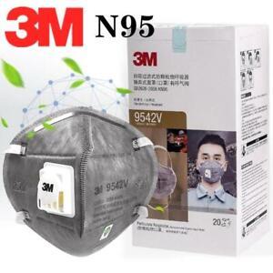3M 9542V Fold Flat Face Mask N95 Valved Particulate Respirator FFP2 - 20 PACK *2