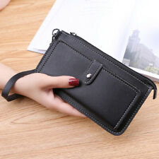 Zipper Phone Case Card Wallet Pouch With Strap pocket Bag Holster Leather Cover