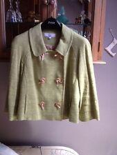 Next tailored lime short linen jacket 3/4 sleeves UK 12P