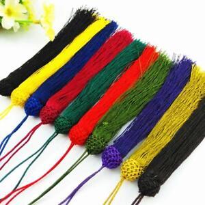 V17 (1,10 pcs) 12cm Long tassel Braid (use for earring bookmark runner dress)