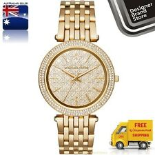 New Michael Kors Ladies Watch Darci Gold Crystal Pave Glitz Dial & Bezel MK3398