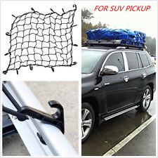 Car SUV Offroad Roof/Pickup Truck Trailer Lugguage Rack Basket Cargo Net Hooks