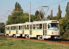 Ansichtskarte: historischer Tatra-Zug T4D, Triebwagen 1602, Leipzig, Straßenbahn