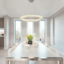 Home Decorators 24 in. Chrome Integrated LED Pendant with Clear Crystals