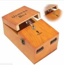 Wooden Useless Box Leave Me Alone Interesting Pastime Machine Kit Gift Toys Set