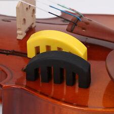 Violin Practice Heavy BlackRubber Violin Mute Fiddle Silencer Acoustic Electric#