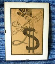 Dólar satírico dibujos animados Thatcher Reagan Gerald Scarfe tiempos económicos libra Rosa
