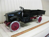 1926-29 BUDDY L Hydraulic Dump Truck Pressed Steel Toy Restored