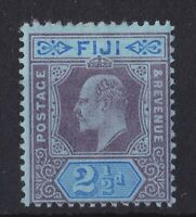 BC850) Fiji 1903 KEVII 2½d Dull purple & Blue on Blue SG107 MH
