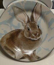 Williams Sonoma Damask Bunny Salad Plates