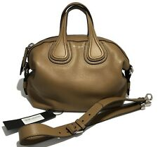 NEW, GIVENCHY TAN SMALL 'NIGHTINGALE' WAXY LEATHER BAG, $2945
