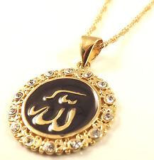 Nome di Dio Allah in Arabo Catenina Collana e Ciondolo Islamico oro corano islamico