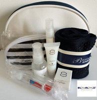 ELAL Airline Business Wash Amenity Toiletry Travel Kit Laline Cosmetic Navy Bag