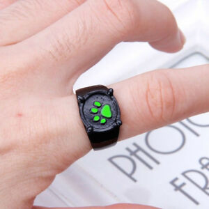 Cat Noir Cartoon Green Pawprint Black Cat Ring Cosplay Claw Zinc Alloy Ladybug