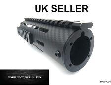 "7"" Professional Carbon Fiber Handguard Light Quad Rail  M/ AR Series Black UK"