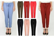 Ladies Womens Harem Hareem Trousers Girls Elastic Waist Spring Summer Size new