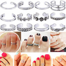 Band Silver Plated Adjustable Jewellery Gift Womens Toe Rings Small Finger Ring