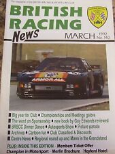 BRITISH RACING NEWS MAGAZINE #140 MAR 1992 GUY EDWARDS BOOK PICTURE PARADE ARCHI
