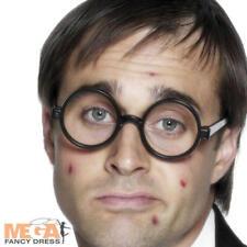 Schoolboy Geek Specs Glasses Unisex Nerd School Fancy Dress Costume Accessory