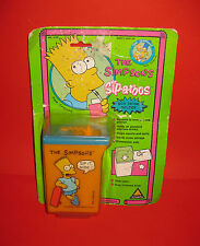 1990 The Simpsons Brand New MOC Bart Simpson Toymax Box Drink Holder Sip-A-Roos